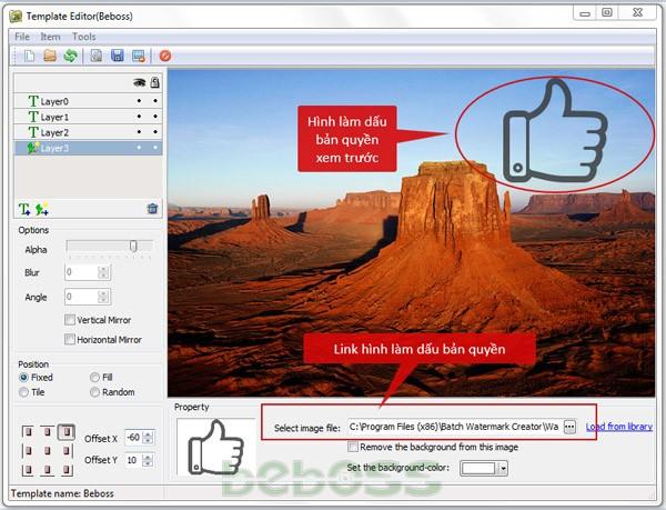 Hướng dẫn sử dụng Batch Watermark Creator 7 - Bước 7