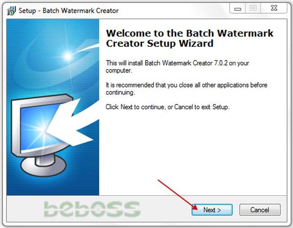 Hướng dẫn cài đặt Batch Watermark Creator 7 - Bước 1
