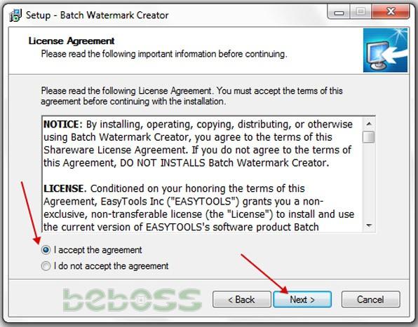 Hướng dẫn cài đặt Batch Watermark Creator 7 - Bước 2