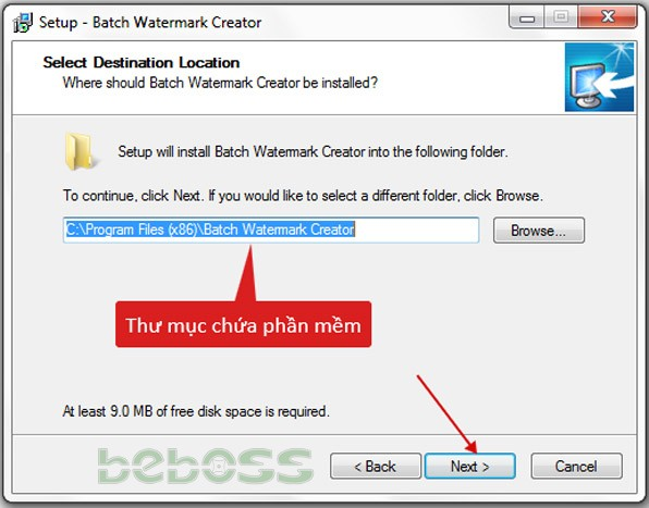 Hướng dẫn cài đặt Batch Watermark Creator 7 - Bước 3