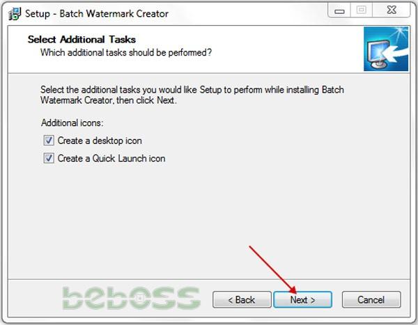 Hướng dẫn cài đặt Batch Watermark Creator 7 - Bước 5