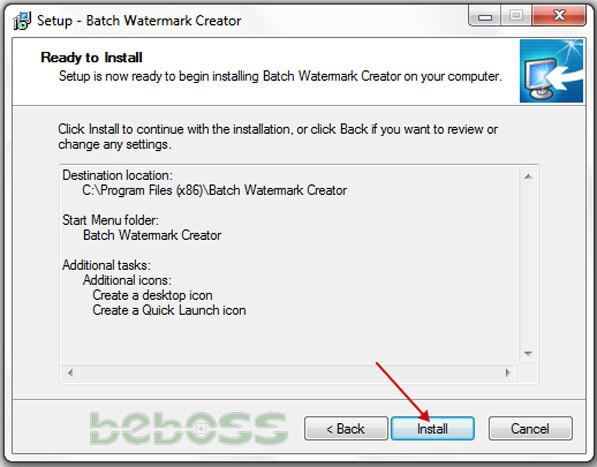 Hướng dẫn cài đặt Batch Watermark Creator 7 - Bước 6