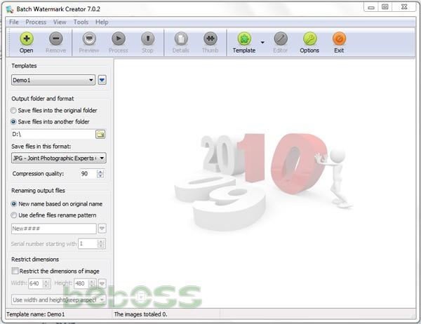 Hướng dẫn cài đặt Batch Watermark Creator 7 - Giao diện