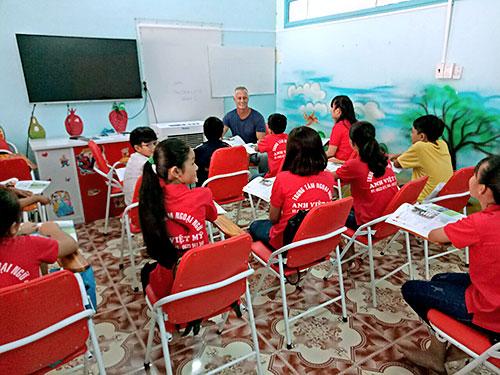 Một buổi học tại hệ thống trung tâm đào tạo anh ngữ Công ty Đức Anh